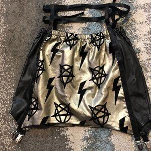 Rat baby pentagram harness skirt size Med